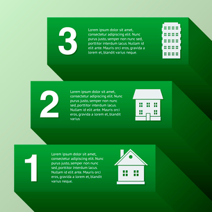Real estate infographic set with buildings vector illustrationのイラスト素材 [FYI03070724]