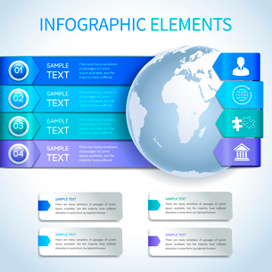 Abstract paper business infographics layout design elements for global options achievement and statiのイラスト素材 [FYI03070751]
