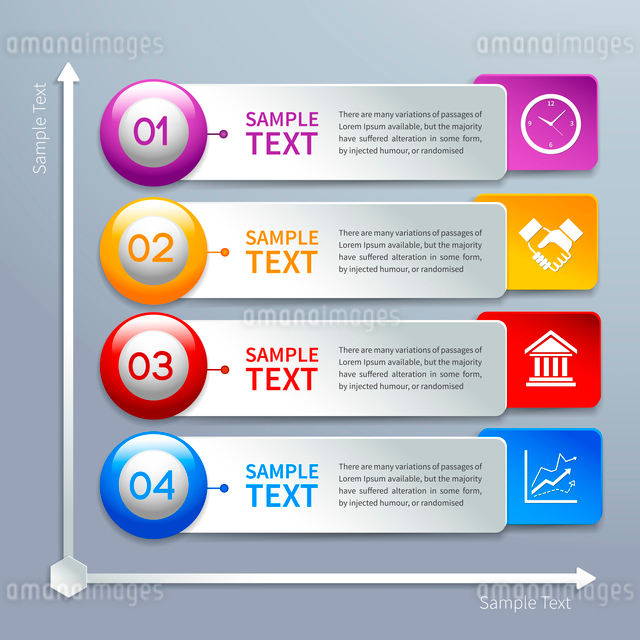 Abstract business paper chart infographics layout template with choice buttons and labels vector illのイラスト素材 [FYI03070752]