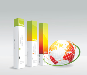 Travel Infographic set with globe. Vector illustration.のイラスト素材 [FYI03070806]