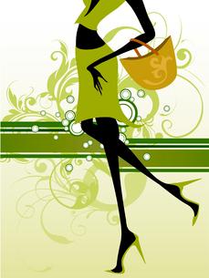 shopping girlのイラスト素材 [FYI03070994]