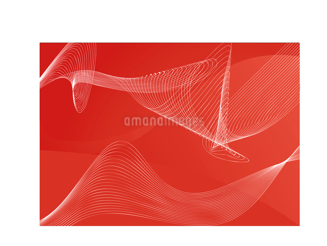 red  abstract lines background  ;  composition of curved lines--great for backgrounds, or layering oのイラスト素材 [FYI03071237]