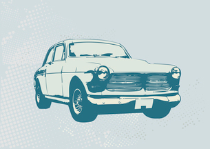 Vector Illustration of old vintage custom collector's carのイラスト素材 [FYI03071252]
