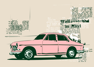 Vector Illustration of old vintage custom collector's carのイラスト素材 [FYI03071253]