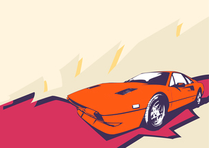 Vector Illustration of old vintage custom collector's carのイラスト素材 [FYI03071270]