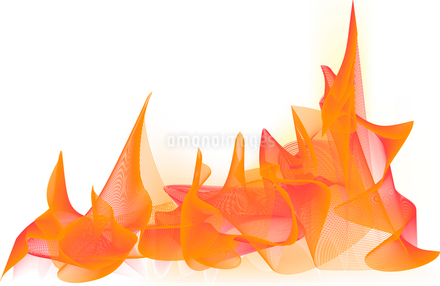 Vector illustration - abstract background made of color splashes and curved linesのイラスト素材 [FYI03071278]