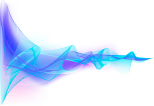 Vector illustration - abstract background made of color splashes and curved linesのイラスト素材 [FYI03071290]
