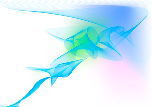 Vector illustration - abstract background made of color splashes and curved linesのイラスト素材 [FYI03071292]