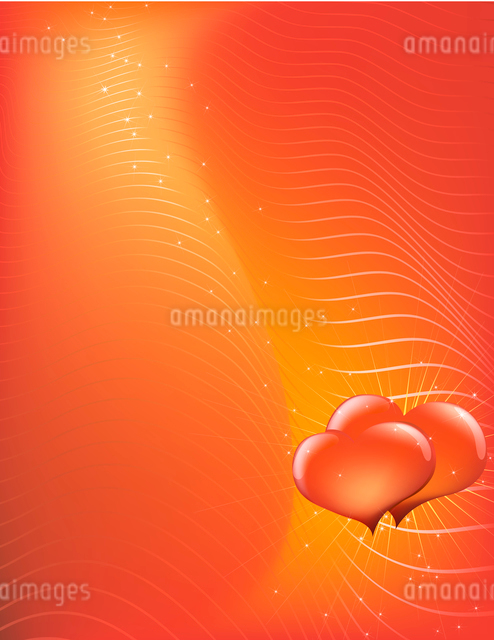 Vector illustration - abstract Valentine's Day background made of curved linesのイラスト素材 [FYI03071301]