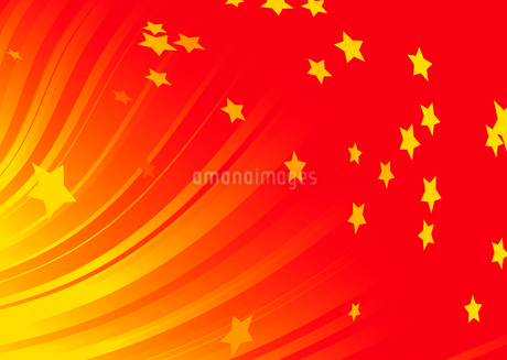 Vector illustration of Burst of shining stars on dynamic red backgroundのイラスト素材 [FYI03071327]