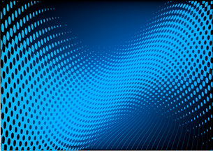 Blue   abstract techno background: composition of dots and curved lines - great for backgrounds, orのイラスト素材 [FYI03071333]