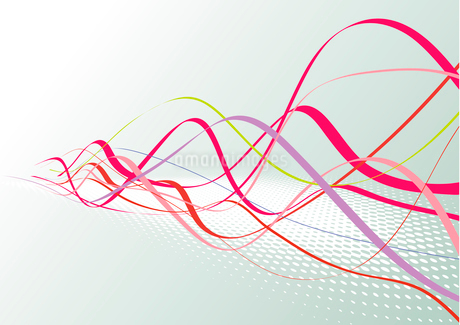 Abstract lines background: composition of colored curved lines - great for backgrounds, or layeringのイラスト素材 [FYI03071339]
