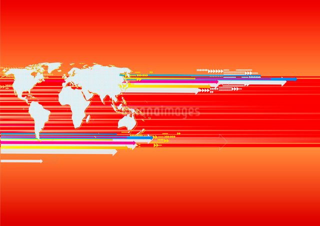Vector illustration of Business background with world mapのイラスト素材 [FYI03071392]
