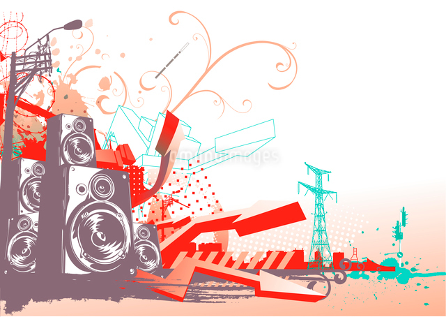 Vector illustration of style urban backgroundのイラスト素材 [FYI03071438]