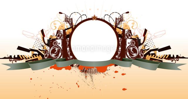 Vector illustration of style  urban grunge frameのイラスト素材 [FYI03071444]