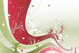Vector illustration of style floral colored backgroundのイラスト素材 [FYI03071490]