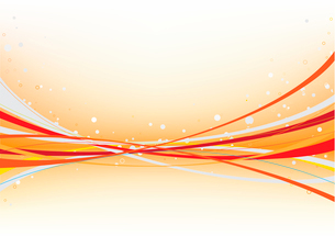 Vector illustration of abstract background made of curved linesのイラスト素材 [FYI03071508]