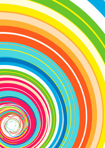 Vector illustration of Abstract background with Glassy Colorful Rainbow Spiralのイラスト素材 [FYI03071509]