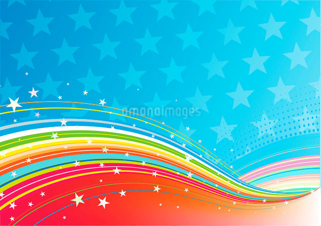 Vector illustration of fourth of July patriotic abstract backgroundのイラスト素材 [FYI03071527]