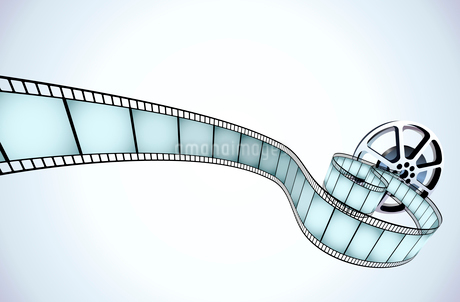 Vector illustrator of movie reel with a strip of exposed framesのイラスト素材 [FYI03071535]
