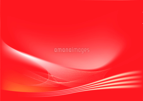 red abstract lines background: composition of curved lines-great for backgrounds, or layering over oのイラスト素材 [FYI03071590]
