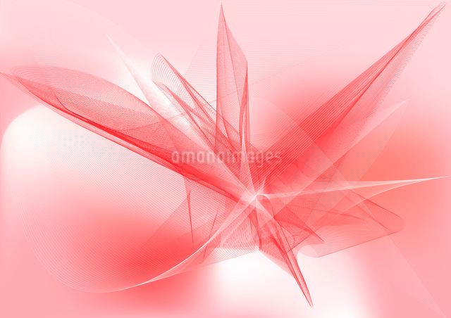 Vector illustration - abstract background made of color splashes and curved linesのイラスト素材 [FYI03071599]