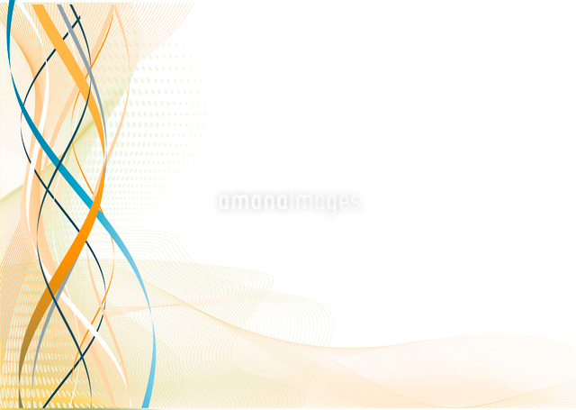 Vector illustration of meshes curved lines and color splashesのイラスト素材 [FYI03071659]