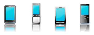 Vector illustration set of elegant black communication device iconsのイラスト素材 [FYI03071675]