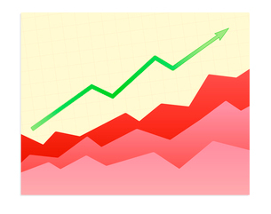 Vector illustration - Shiny  graph of success trendのイラスト素材 [FYI03071697]