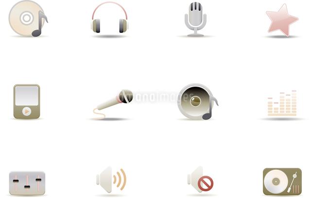 Vector illustration set of elegant simple icons for common digital music mediaのイラスト素材 [FYI03071713]
