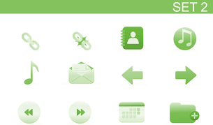 Vector illustration set of elegant simple icons for common computer functions. Set-2のイラスト素材 [FYI03071730]