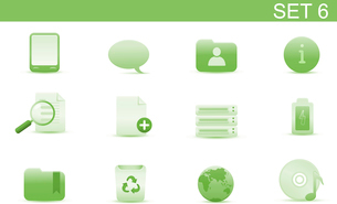 Vector illustration set of elegant simple icons for common computer and media devices functions. Setのイラスト素材 [FYI03071735]