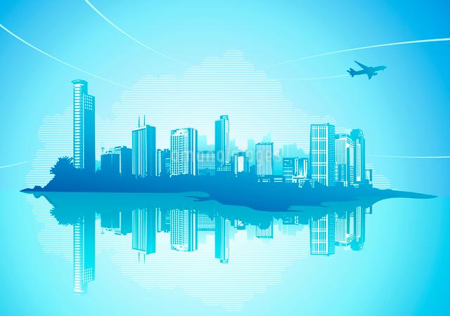 Big City - Grunge styled urban background.  Vector illustration.のイラスト素材 [FYI03071840]