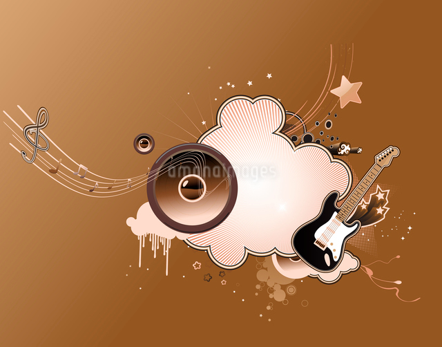 Vector illustration of music abstract frameのイラスト素材 [FYI03071922]