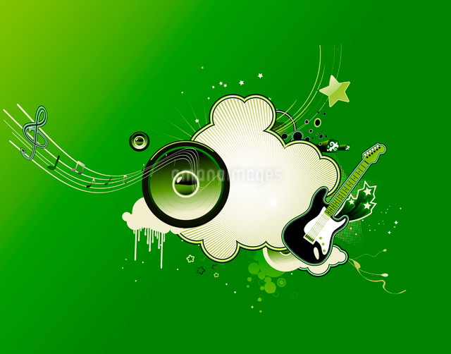 Vector illustration of music abstract frameのイラスト素材 [FYI03071926]