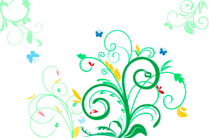 Floral decorative background for holiday s card. Vectorのイラスト素材 [FYI03071991]