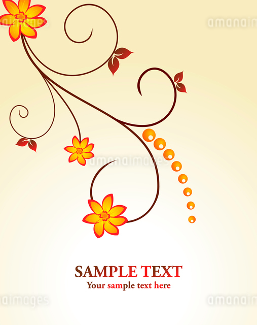 Floral decorative background for holiday card. Vectorのイラスト素材 [FYI03071992]