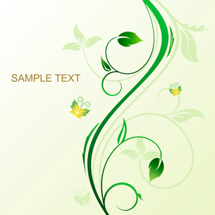 Floral decorative background for holiday card. Vectorのイラスト素材 [FYI03072002]