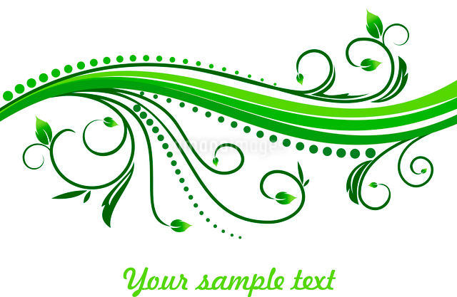 Floral decorative background for holiday card. Vectorのイラスト素材 [FYI03072007]