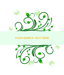 Floral decorative background for holiday card. Vectorのイラスト素材 [FYI03072008]