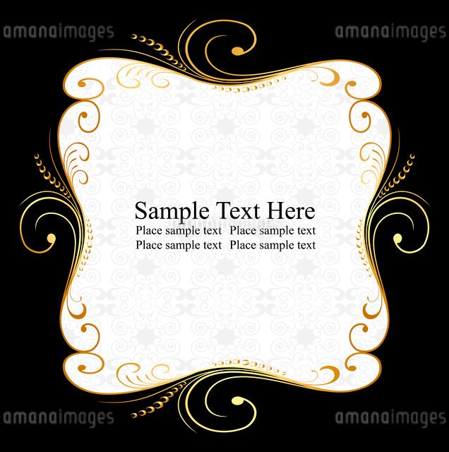 Illustration of golden floral frame. Vectorのイラスト素材 [FYI03072066]
