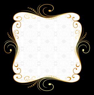 Illustration of golden floral frame. Vectorのイラスト素材 [FYI03072067]
