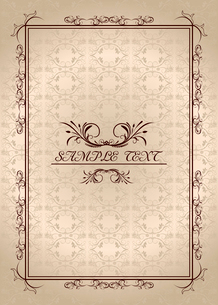 Illustration vintage background card for design - vectorのイラスト素材 [FYI03072123]