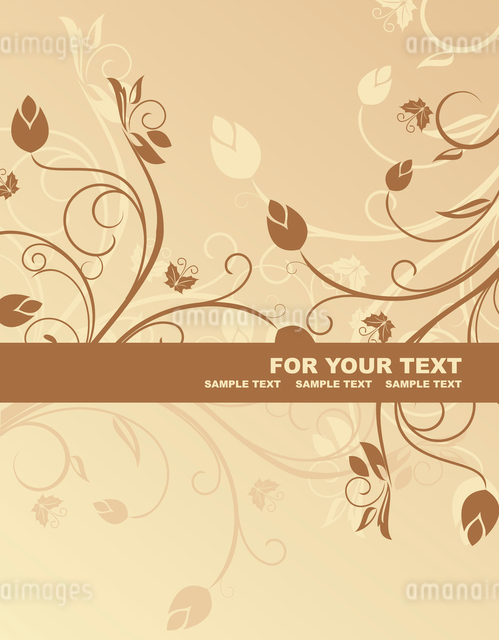 Floral background for design card - vectorのイラスト素材 [FYI03072147]