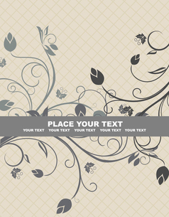 Floral background for design card - vectorのイラスト素材 [FYI03072151]