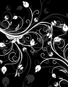 Floral background for design card - vectorのイラスト素材 [FYI03072153]
