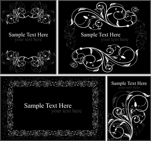 Set of floral elegance cards. Vectorのイラスト素材 [FYI03072162]