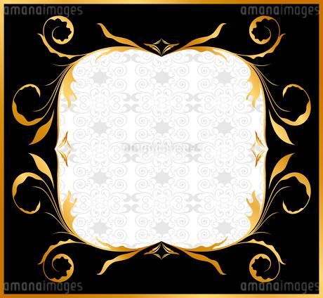 Illustration of golden floral frame. Vectorのイラスト素材 [FYI03072188]