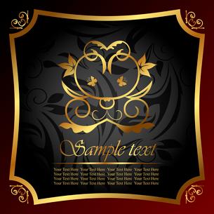 Illustration ornate decorative golden frame - vectorのイラスト素材 [FYI03072238]