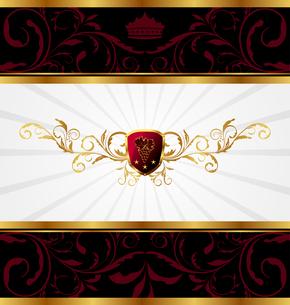 Illustration ornate golden decorative frame - vectorのイラスト素材 [FYI03072246]